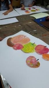 arts-plastique--dessin-enfants-pommes