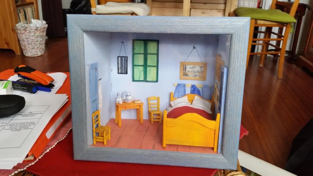 Chambre Van Gogh Vitrine miniature de Ginette Fattal