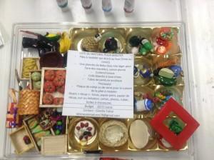 Materiel pour l'activité de vitrine miniature