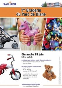 Affiche : 1re braderie du Parc de Diane