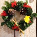 Couronne de Noël en sapin naturel (3 dec)