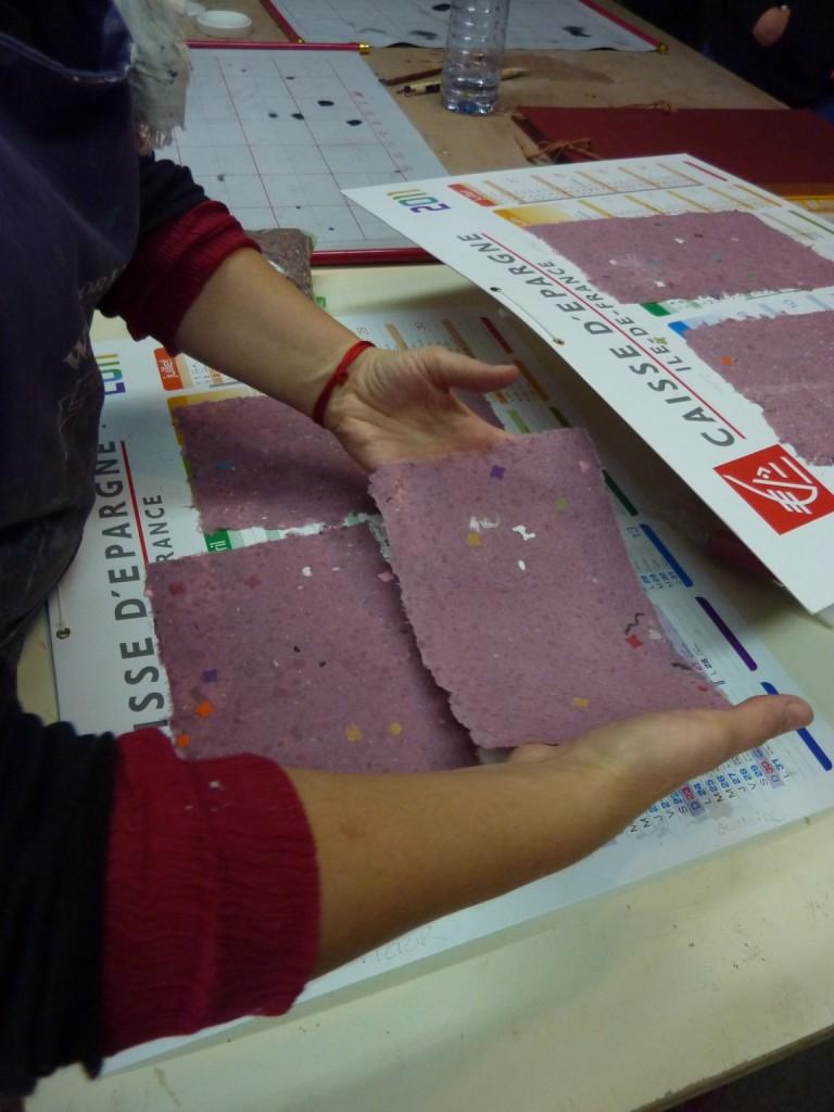 Création de papier colorée