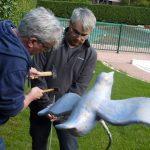 Création et installation des oiseaux en céramiques