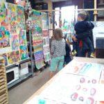 Exposition de fin d'année, arts plastiques enfants