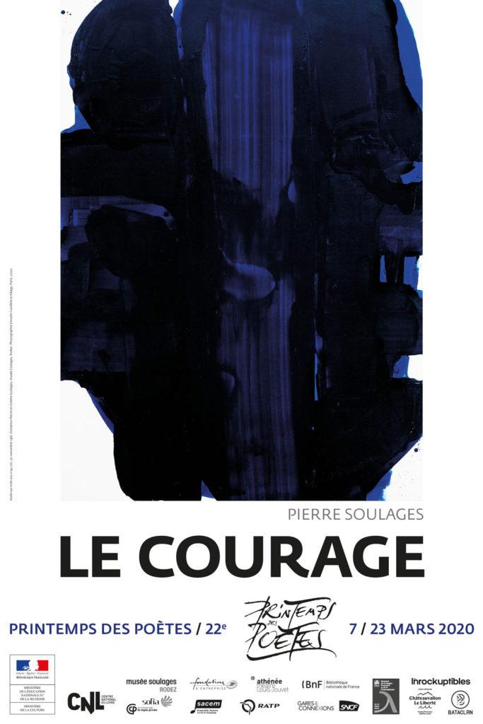 affiche Printemps des Poètes 2020 Le courage